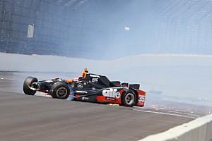 IndyCar Breaking news Tagliani crashes on qualifying run