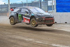 World Rallycross Breaking news Solberg escapes serious injury in freak finish line crash