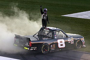 NASCAR Truck Race report John Hunter Nemechek wins in rough and wild finish at Atlanta