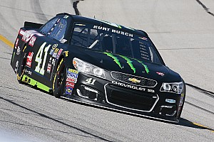 NASCAR Sprint Cup Qualifying report Kurt Busch inherits Atlanta pole as brother Kyle has time disallowed