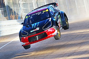 World Rallycross Breaking news Solberg disqualified from Q2 after clash with Ekstrom in Latvia