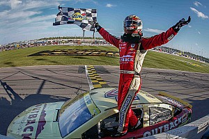 NASCAR Sprint Cup Race report Harvick launches himself into next Chase round with Kansas win