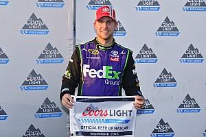 NASCAR Sprint Cup Qualifying report Denny Hamlin edges Kyle Larson for Richmond pole