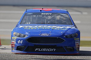 NASCAR Sprint Cup Breaking news Brian Scott comes one spot short of first Cup win at Talladega