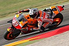 MotoGP Aragon MotoGP: Marquez leads warm-up, Lorenzo crashes