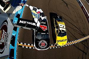 NASCAR Sprint Cup Race report Harvick edges Edwards in thrilling photo finish