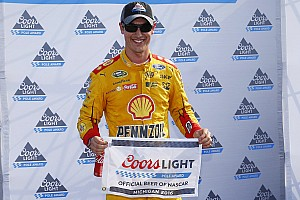 NASCAR Sprint Cup Qualifying report Logano takes Michigan pole, Harvick bit by cautions