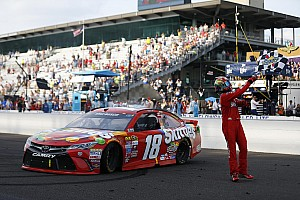 NASCAR Sprint Cup Race report Kyle Busch makes NASCAR history with Brickyard 400 win