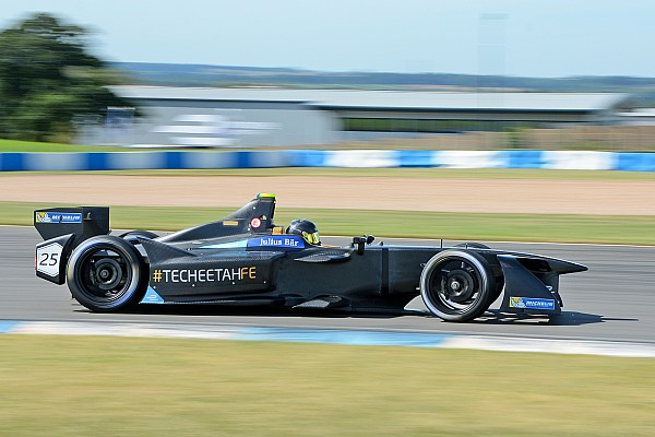 Formula E Testing report Vergne breaks lap record to top second Formula E test day