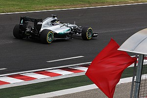 "Formula 1 Breaking news Hamilton says new kerbs ""sent me flying"" into crash barrier"