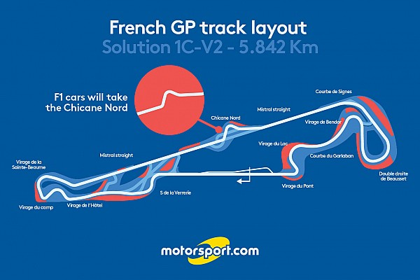 Formula 1 Breaking news French GP layout will feature chicane on Mistral Straight