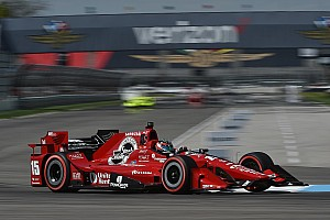 IndyCar Practice report Rahal tops warmup at IMS