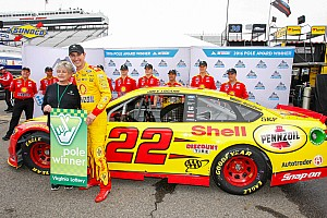NASCAR Sprint Cup Qualifying report Logano edges Kahne for third straight Martinsville pole