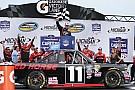 NASCAR Truck Moffitt wins first Truck race with three-wide pass for the lead
