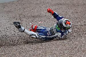 MotoGP Practice report Sachsenring MotoGP: Lorenzo escapes injury in practice crash