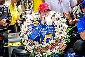 IndyCar Race report Rookie Rossi survives on fuel to win historic 100th Indianapolis 500