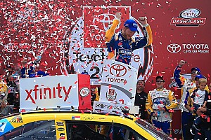 NASCAR XFINITY Race report Dale Earnhardt Jr. takes Xfinity win after chaotic sprint to the finish
