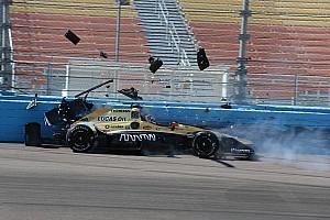 IndyCar Practice report Carpenter leads ECR 1-2, Sato and Hinchcliffe crash