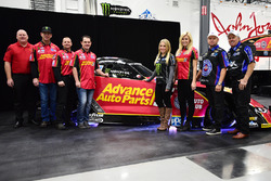 Courtney Force and family with Chevrolet Camaro Funny Car