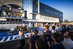 Koiranen GP team at the podium