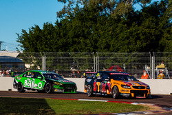 Will Davison, Tekno Autosports Holden, Mark Winterbottom, Prodrive Racing Australia Ford
