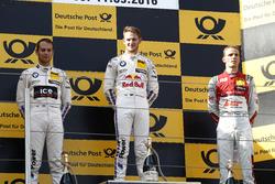 Podium: Race winner Marco Wittmann, BMW Team RMG, BMW M4 DTM; second place Tom Blomqvist, BMW Team RBM, BMW M4 DTM; third place Jamie Green, Audi Sport Team Rosberg, Audi RS 5 DTM.