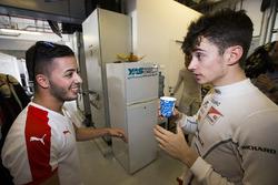 Antonio Fuoco, Trident congratulates Charles Leclerc, ART Grand Prix