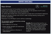 Mercedes AMG F1 driver advert