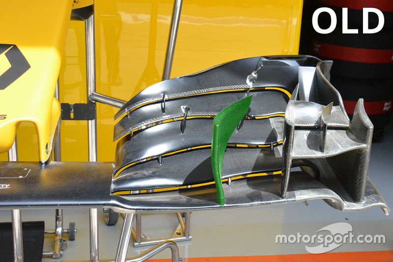 Renault Sport F1 Team old front wing detail