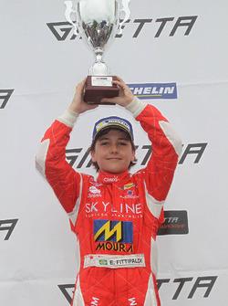 Race winner Enzo Fittipaldi
