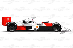 McLaren MP4-5B driven by Ayrton Senna
