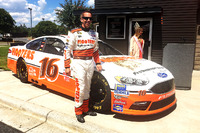 NASCAR Sprint Cup Photos - Greg Biffle, Roush Fenway Racing Ford throwback scheme