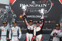 Podium: race winners #88 AKKA ASP Mercedes AMG GT3: Tristan Vautier, Felix Rosenqvist