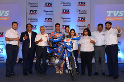 Aravind KP, Sherco TVS with the TVS team