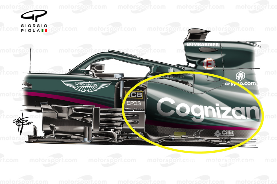 Aston Martin Racing AMR21 side pods