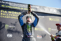 Podium: Race winner Andreas Bakkerud, Hoonigan Racing Division