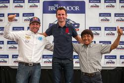 Overall podium: 1st place Romain Dumas, 2nd place Rhys Millen, 3rd place Tetsuya Yamano