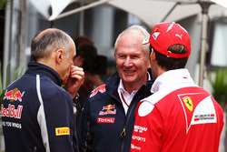 Franz Tost, Scuderia Toro Rosso Team Principal with Dr Helmut Marko, Red Bull Motorsport Consultant and Jean-Eric Vergne, Ferrari Test and Development Driver
