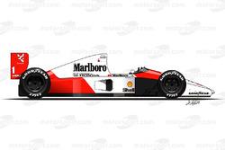 McLaren MP4-6 driven by Ayrton Senna