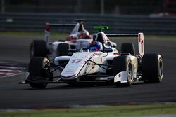 Ralph Boschung, Koiranen GP leads Charles Leclerc, ART Grand Prix