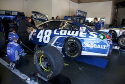 The car of Jimmie Johnson, Hendrick Motorsports Chevrolet