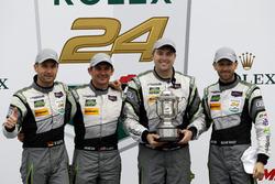 Winner GTLM: #44 Magnus Racing Audi R8 LMS: John Potter, Andy Lally, Marco Seefried, René Rast