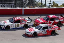 Denny Hamlin, Joe Gibbs Racing Toyota, Justin Allgaier, JR Motorsports Chevrolet, Ty Dillon, Richard Childress Racing Chevrolet