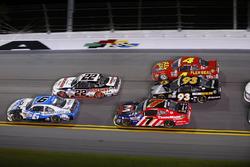 Darrell Wallace Jr., Roush Fenway Racing Ford, Joey Logano, Team Penske Ford