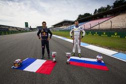 Pierre Gasly, PREMA Racing and Sergey Sirotkin, ART Grand Prix