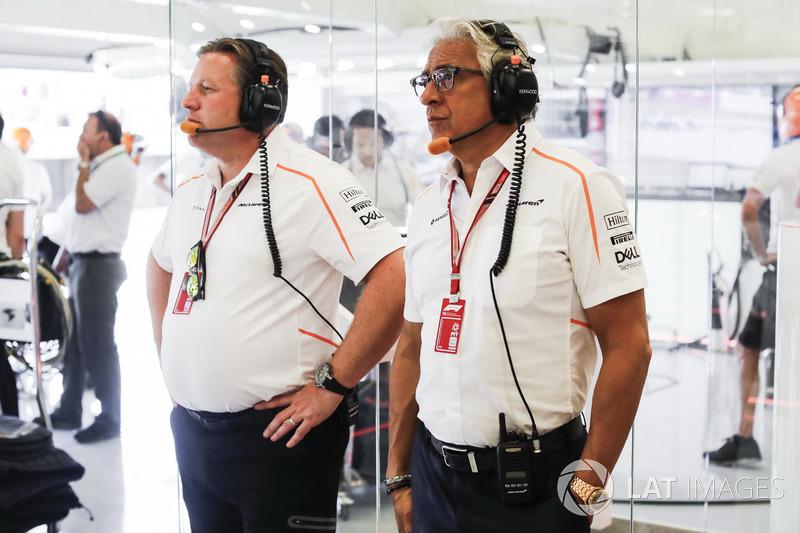 Zak Brown, McLaren Racing CEO con Michael Latifi, inversor de McLaren.