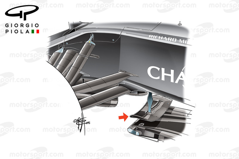 McLaren MP4/31 front fins, German GP