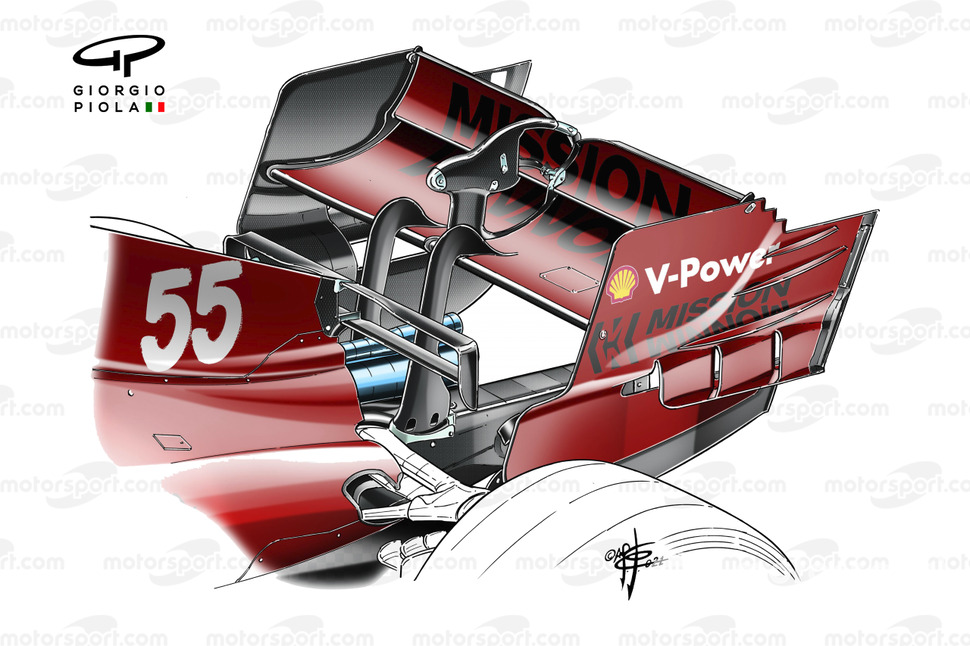 Ferrari SF21 rear wing Spanish GP