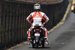 Danilo Petrucci, Pramac Racing in scooter after his crash