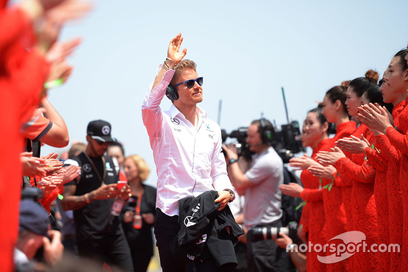 Nico Rosberg, Mercedes AMG F1 Team on the drivers parade
